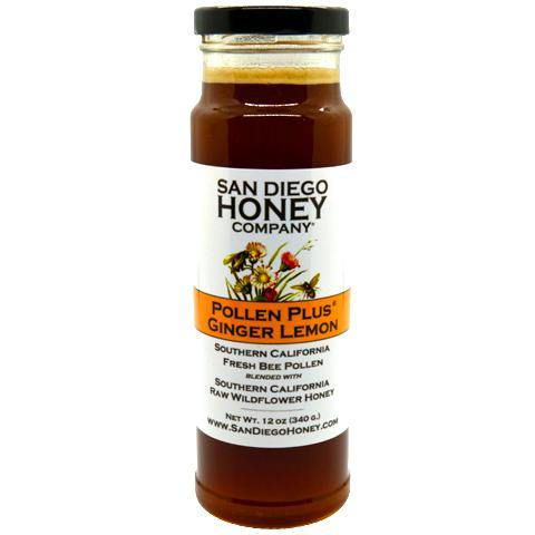 Pollen Plus® Ginger Lemon - Bee Pollen and Raw Honey - San Diego Honey Company®
