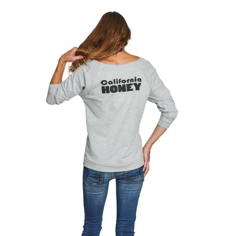 California Honey 3/4 Sleeve Raglan Shirt - Grey - San Diego Honey Company®