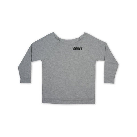 California Honey 3/4 Sleeve Raglan Shirt - Grey