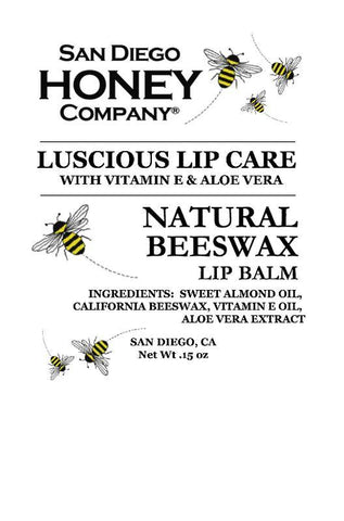 Natural Beeswax Lip Balm - San Diego Honey Company®