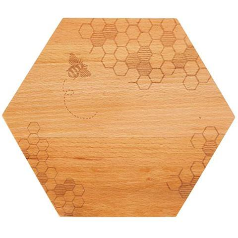 Beechwood Bee Engraved Small Cutting Board