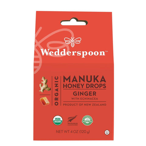 Wedderspoon Organic Manuka Honey Drops - Ginger