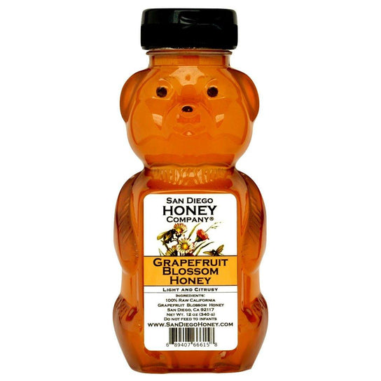 Raw Southern California Grapefruit Blossom Honey - San Diego Honey Company®