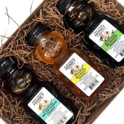 Avocado Blossom, Orange Blossom and Coastal Wildflower Honey Bear Trio Gift Set