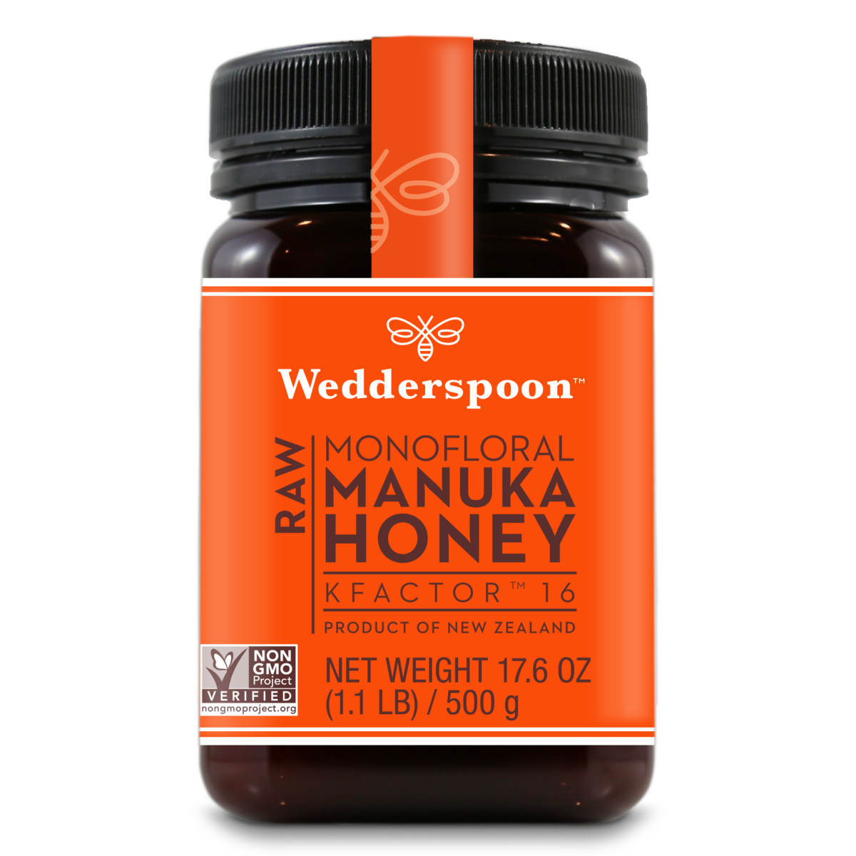 Wedderspoon Raw Monofloral Manuka Honey KFactor 16 - 500 gram - San Diego Honey Company®