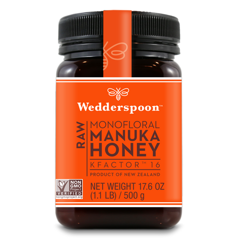 Wedderspoon Raw Monofloral Manuka Honey KFactor 16 - 500 gram