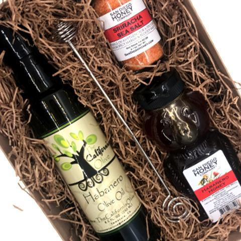Habanero Honey, Habanero Olive Oil and Sriracha Sea Salt Gift Set