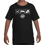 Eat Sleep JiuJitsu Shirt for Kids