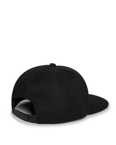 Black Flat Bill and Snapback Hat