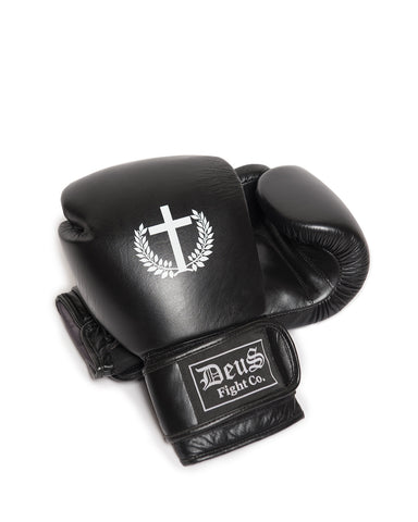 Youth Pro Logo Black Boxing Gloves