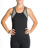 Workout Top with Grey Sleeves