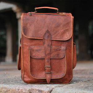 Leather Laptop Backpack: The All-in-One Outing Bag