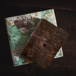 A Toast to our Authors: Vintage leather journals and the love of writing