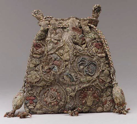 16th century handbag. Image courtesy: http://throwinthebag.wordpress.com/