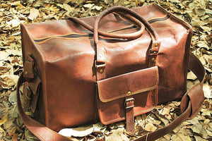 Leather Duffel Travel Bag Organizer