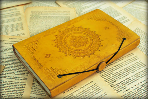 Leather Journals Rustic Town