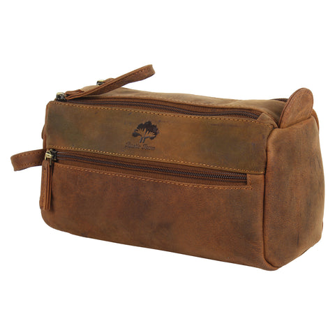 leather toiletry bag rustic town dopp kit