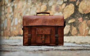 Leather Satchel Office Bag