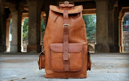 Leather-backpack
