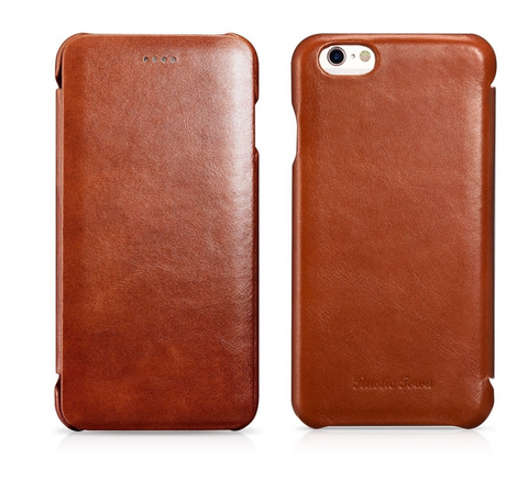Leather Iphone cover case rustic town