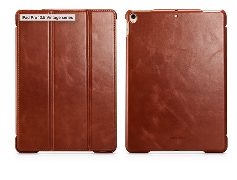 leather iPad case cover rustic town