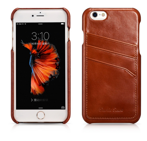 Rustic Town leather iPhone case cover