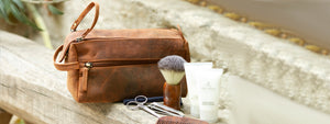Leather Shaving Dopp Kit Makeup Cosmetics Bags