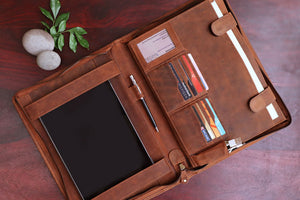 Leather Portfolios File Folder