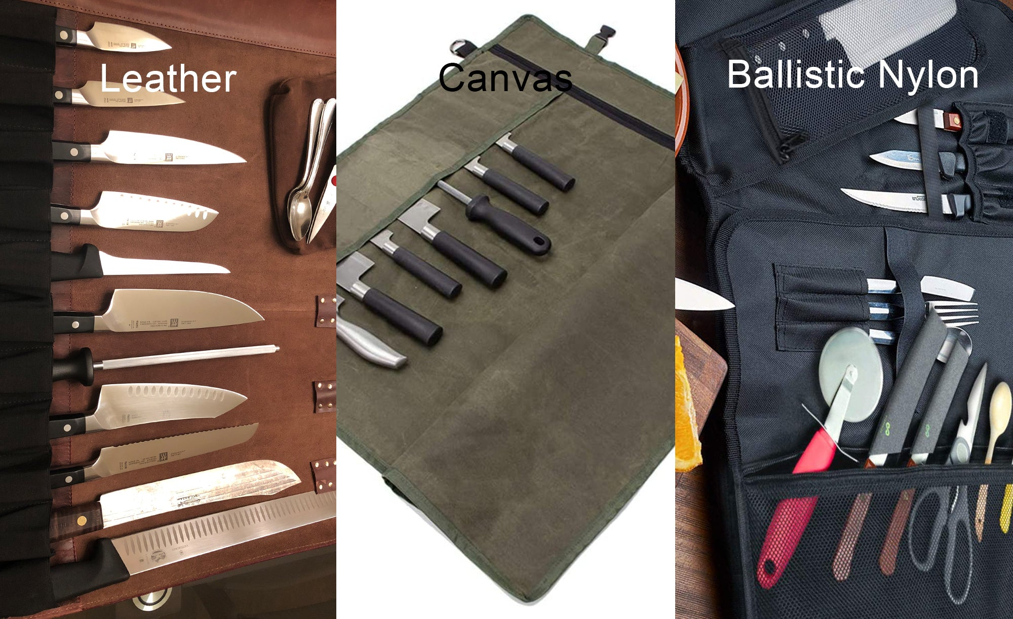 leather knife roll for chefs