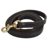 Leather Detachable Dog Leash ~ Heavy Duty 6 ft Large Brown