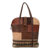 Woven Fabric Leather Boho Tote Shoulder Bag for Women