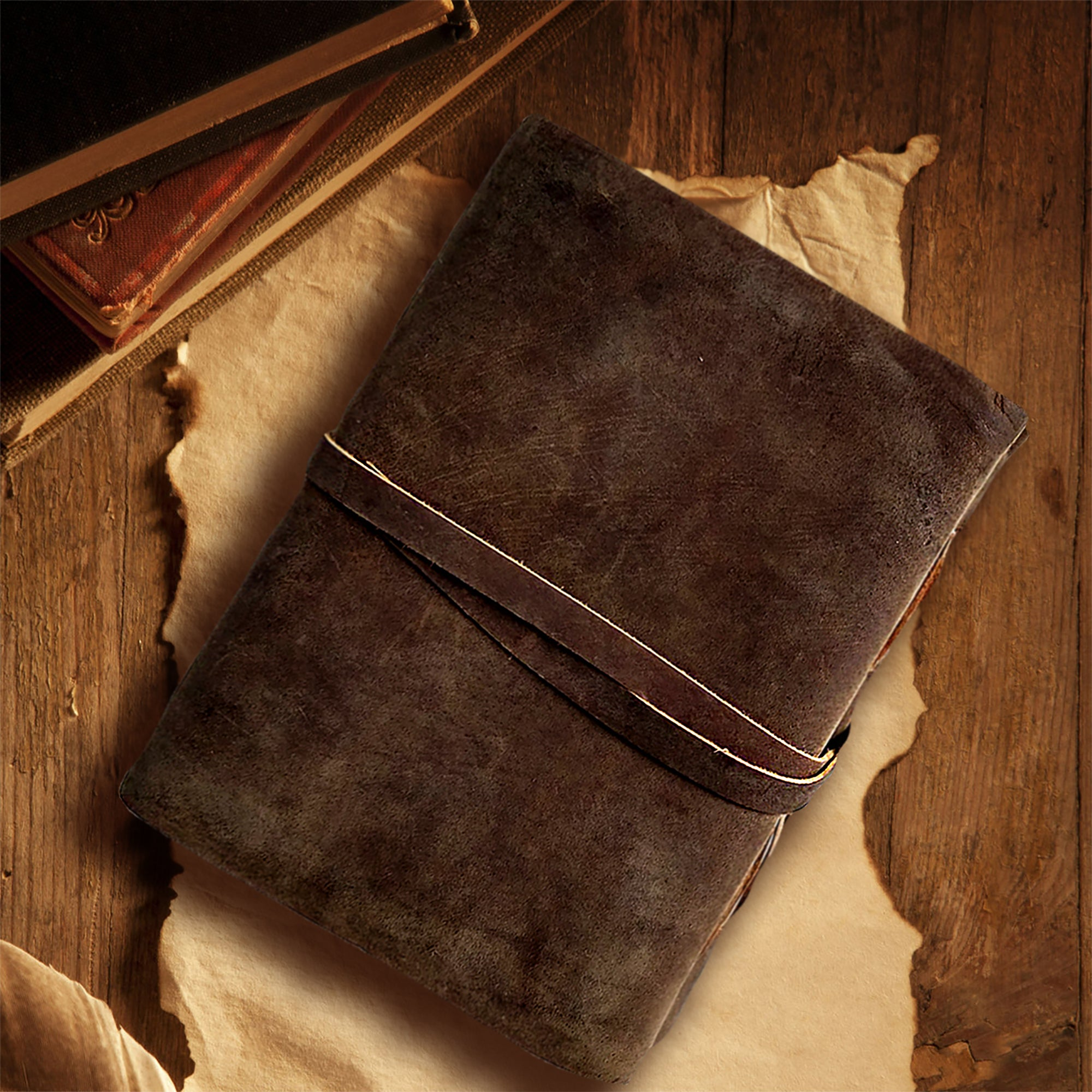 Leather Bound Journal - Handmade