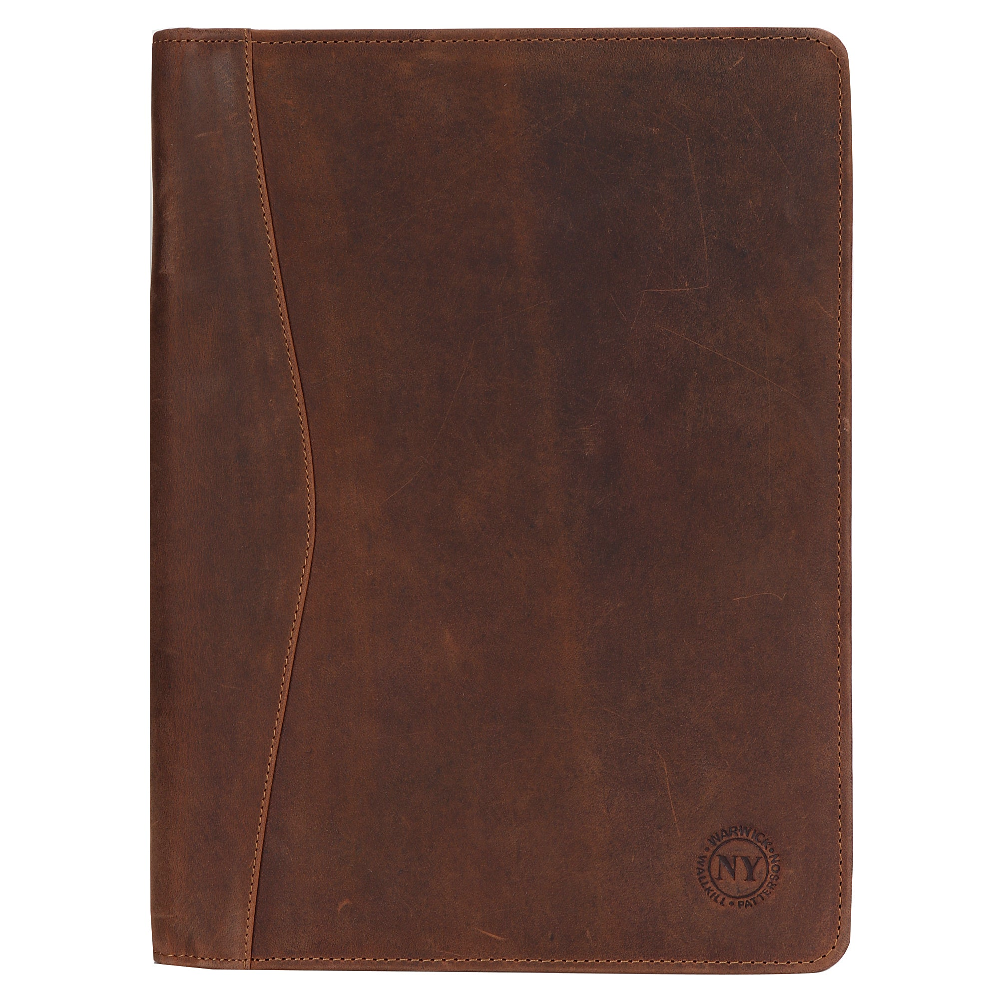 Supreme Business Portfolio Professional Organizer for Men & Women Durable Leather Padfolio (Tan)