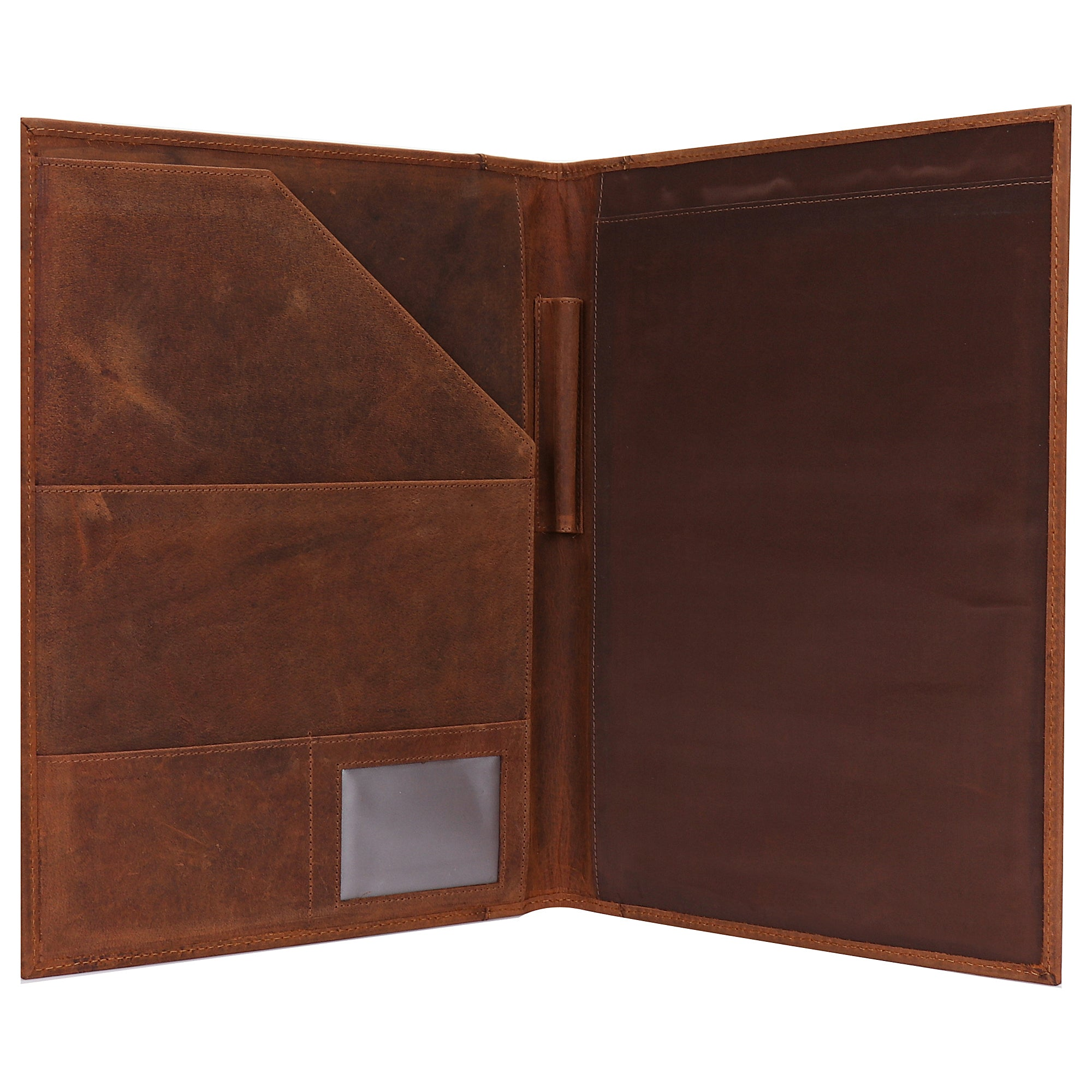 Royal Handmade Leather Portfolio Professional Organizer Office File Folder (Brown)