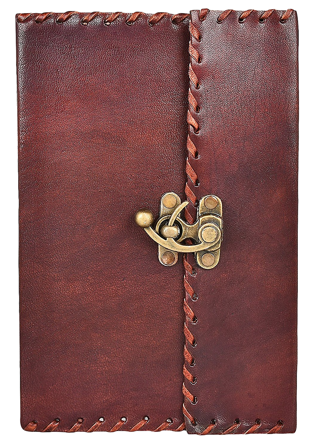 Creative Handmade Leather Journal Buckle Closure