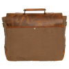 Retro Style Leather Canvas Messenger Bag Briefcase Laptop Bag (Olive Green)