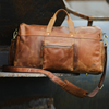 Sam Leather Travel Duffel Bag Overnight Bag Gym Bag