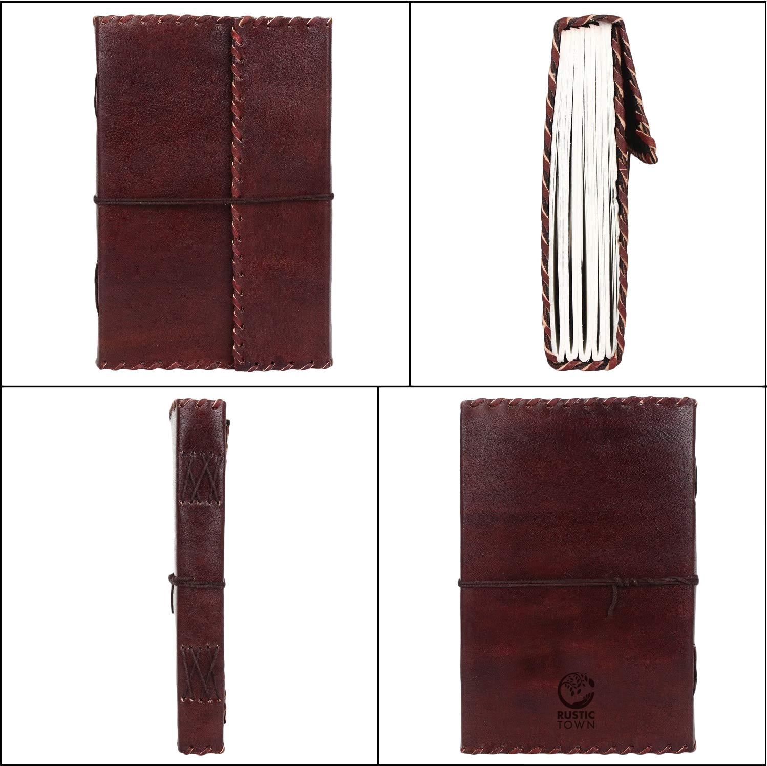Handmade Gemnuine Leather Journal for Men Women