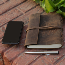 Load image into Gallery viewer, Heart Embossed Leather Journal for Women