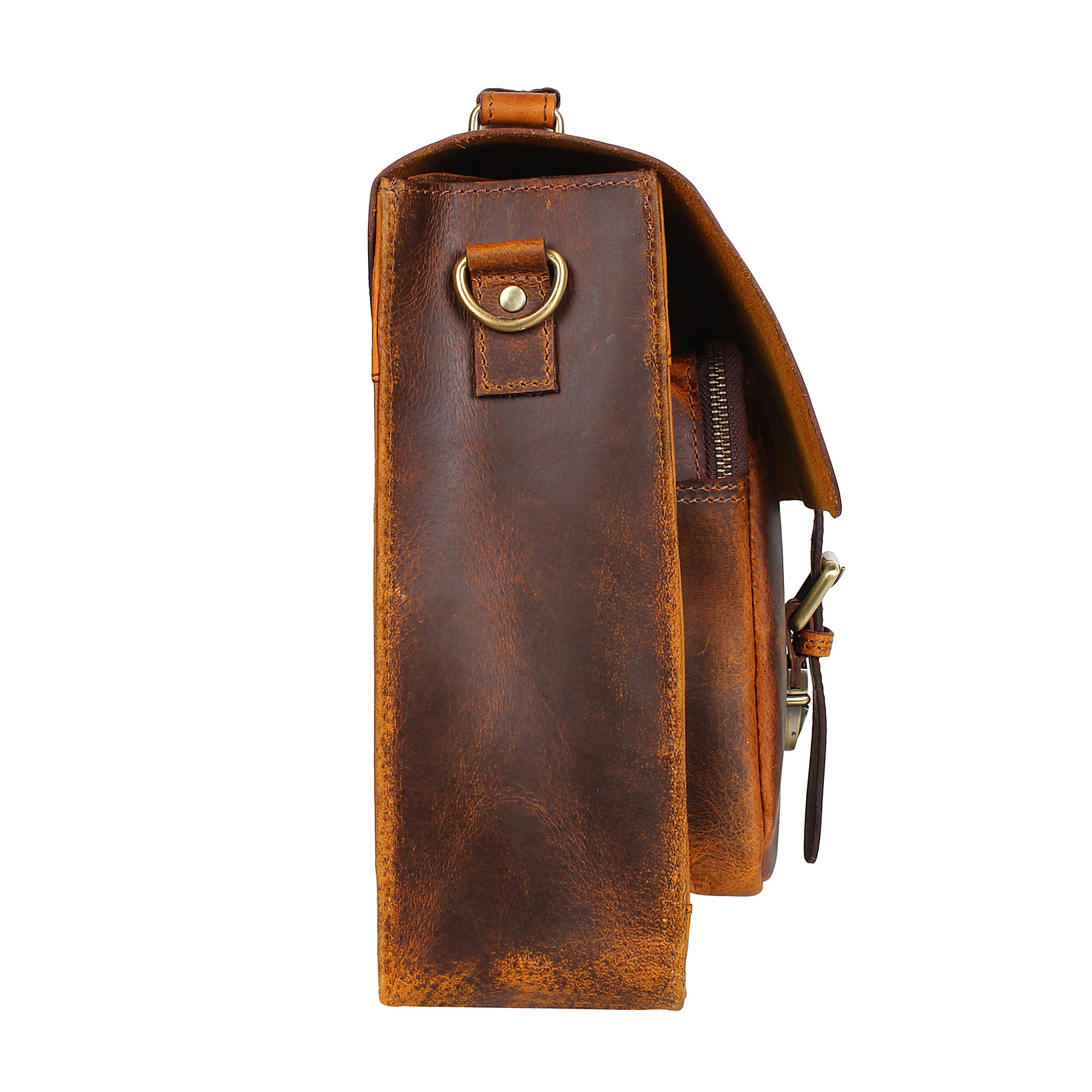 15 Inch Buffalo Leather Laptop Messenger Bag