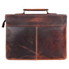 15 Inch Buffalo Leather Laptop Messenger Bag Office Briefcase College Bag Fits Upto 14 Inch Laptop