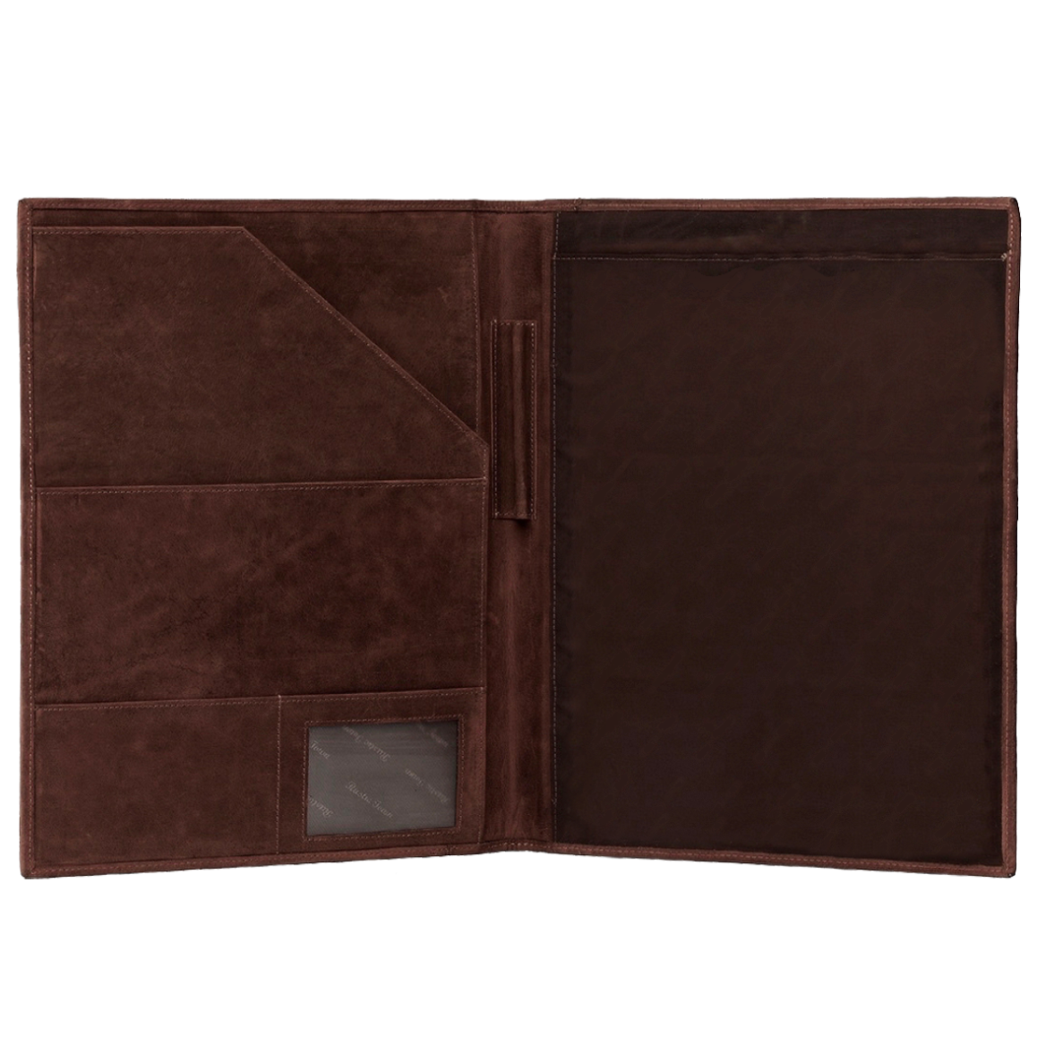 Royal Durable Leather Portfolio Office File Folder (Dark Brown)