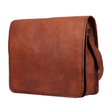 Load image into Gallery viewer, ARTISIAN LEATHER LAPTOP MESSENGER BAG (11 INCH)