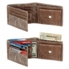 Genuine Leather Wallets for Men - Leather Bifold Wallet With Coin Pocket