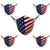 Cotton Face Masks Washable - American Flag Adjustable Reusable Face Mask Fashion Unisex - 3 Layer Protective Fabric Face Cover, Breathable Face Mask Cloth Mouth Mask (Pack of 5) 500 Set 2500 Pieces