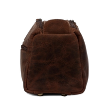 Load image into Gallery viewer, Hugh Leather Travel Shaving Bag (Dark Brown)