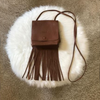 Leather Fringe Purse and Handbag - Boho Crossbody Purses for Women with Tassel (Small, Brown)