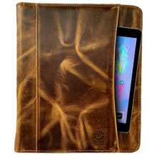 Load image into Gallery viewer, Kingsman Business Leather Padfolio (Antique Brown)
