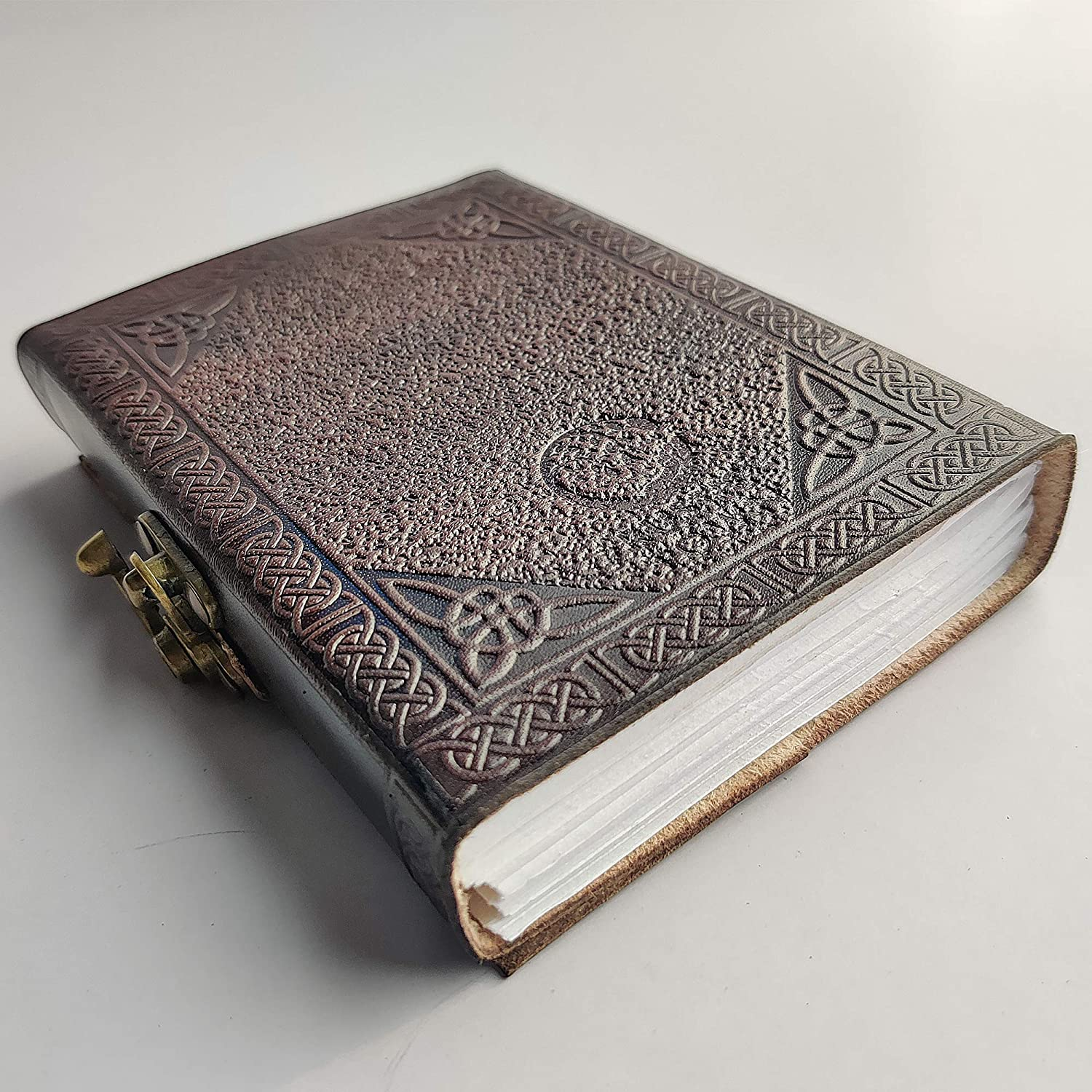Hand Painted Sacred Tree of Life Leather Journal Diary Notebook Men Women