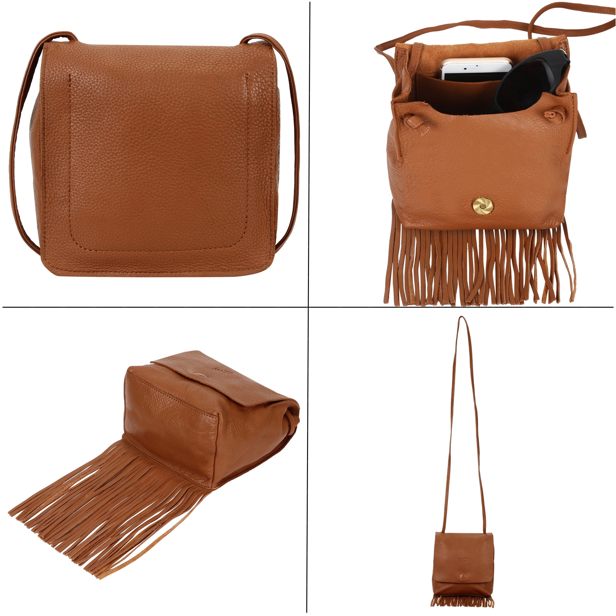 Uptown Fringe Hobo Bag